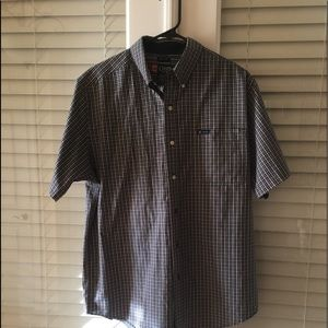 Chaps Short Sleeves Plaid Shirt